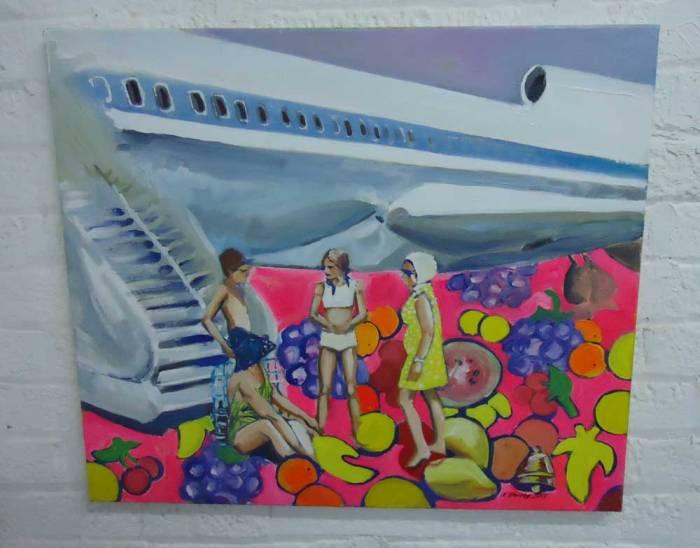 KATRINE STOREBO – Air Vietnam Oil on canvas 60cm x 70cm