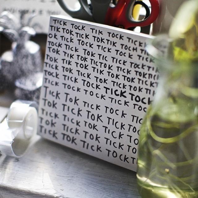 Shantell Martin.... Tick Tock...