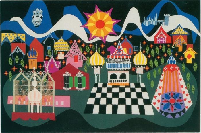 Mary Blair, it's a small world concept art, ca. 1966; 4 x 6 in. (10.16 x 15.24 cm); Walt Disney Family Foundation; © Disney