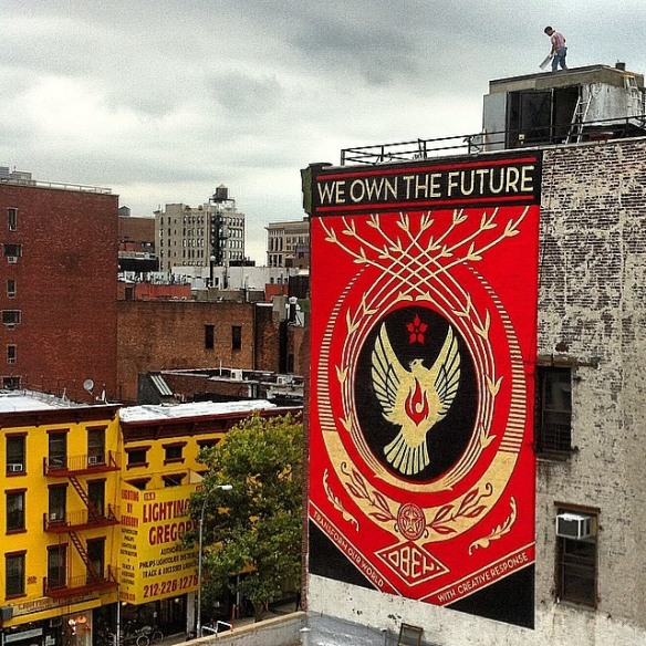 Shepard Fairey, the accetable side of punlic art...