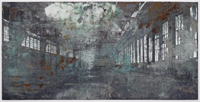 Anselm Kiefer Tempelhof 2010-11 Oil, acrylic, terracotta and salt on canvas 149 5/8 x 299 3/16 in