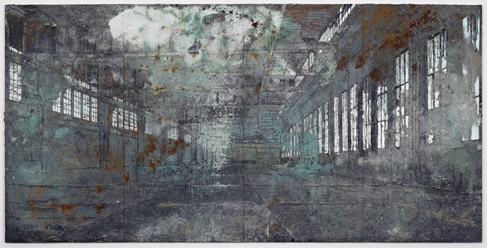Anselm Kiefer Tempelhof 2010-11 Oil, acrylic, terracotta and salt on canvas 149 5/8 x 299 3/16 in