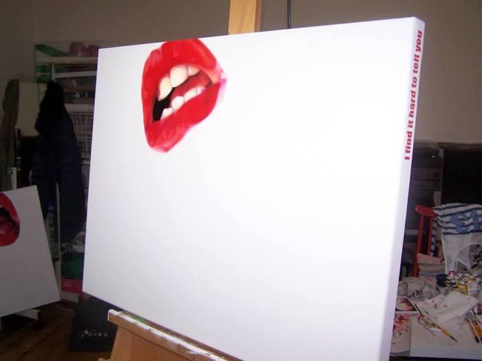 EMMA HARVEY - Oil on canvas