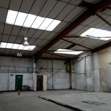 A blank canvas of a warehouse