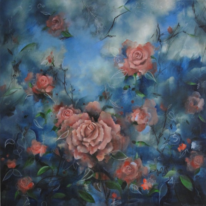 CHRISTOS TOLERA - 'I Become You', 2015 - oil on canvas  (75cm x 75cm)