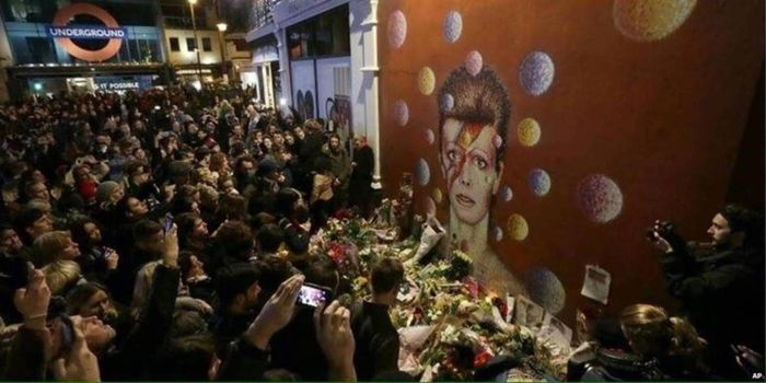 The Jimmy C Bowie painting in Brixton