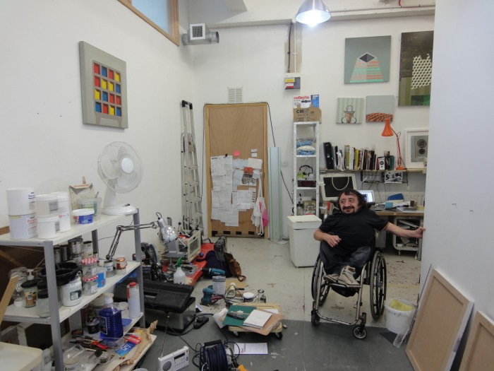 Ben Cove in his studio