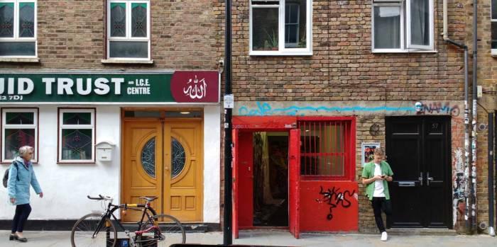 The red door of Studio 1.1, June 2016