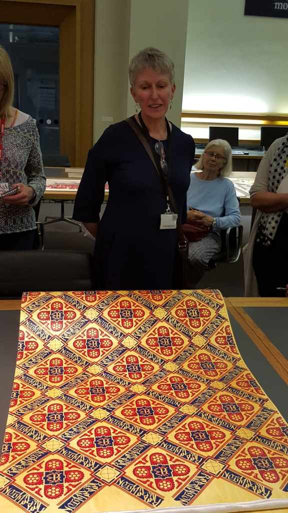 Gill Saunders, curator of prints at the V&A, talking about Ian Bailey's 'Rebellion' wallpaper