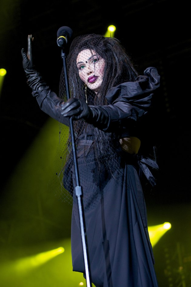 Photo by Stephanie Paschal/REX/Shutterstock Pete Burns - Dead or Alive Hit Factory Live - Christmas Cracker at the O2 Arena, London, Britain - 21 Dec 2012
