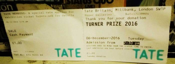 Pay what you want Tuesday at the Tate...